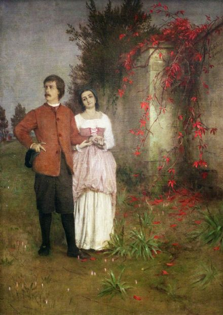 Bocklin, Arnold: The Artist and his Wife. Fine Art Print/Poster. Sizes: A4/A3/A2/A1 (004252)